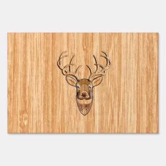 Gráfico de madera del estilo del grano de los señal