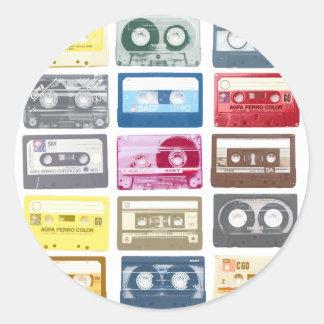 Gráfico de Mixtapes Pegatina Redonda