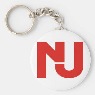 Gráfico de NJ (rojo) Llavero Redondo Tipo Pin