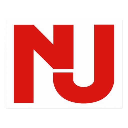 Gráfico de NJ (rojo) Tarjetas Postales