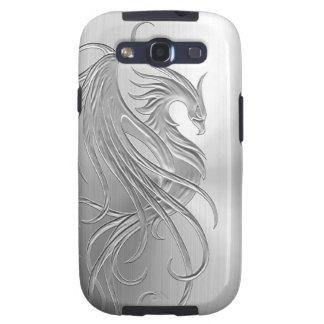 Gráfico de Phoenix del efecto del acero inoxidable Samsung Galaxy S3 Funda