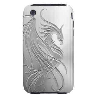 Gráfico de Phoenix del efecto del acero inoxidable iPhone 3 Tough Cárcasas