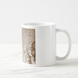 Gráfico de plata del vintage - modelos del arte de tazas de café