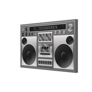 Gráfico de radio de Boombox Impresion De Lienzo