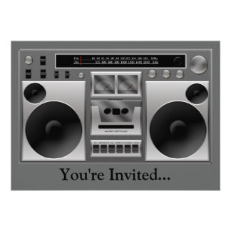 Gráfico de radio de Boombox Invitación