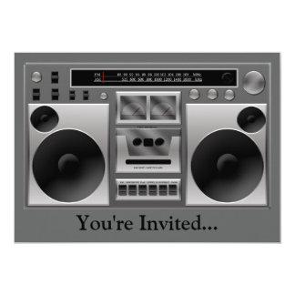 """Gráfico de radio de Boombox Invitación 5"""" X 7"""""""