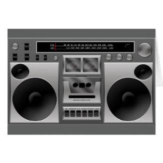 Gráfico de radio de Boombox Tarjeta Pequeña