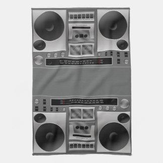 Gráfico de radio de Boombox Toallas De Cocina