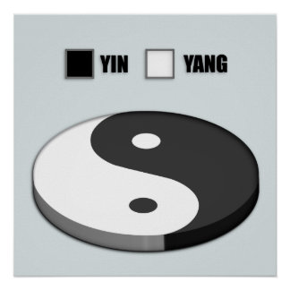 Gráfico de sectores de Yin Yang Póster