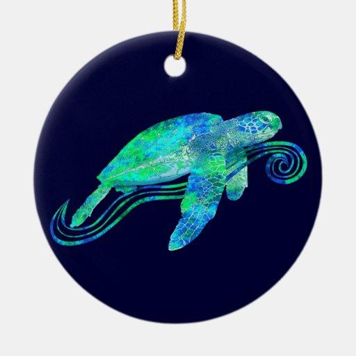 Gráfico de tortuga de mar adornos