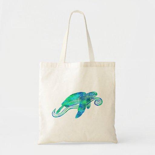 Gráfico de tortuga de mar bolsa tela barata