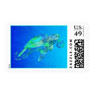 Gráfico de tortuga de mar estampilla
