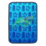 Gráfico de tortuga de mar fundas para macbook air