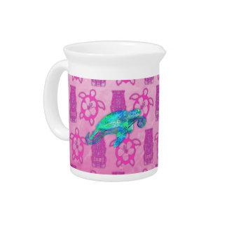 Gráfico de tortuga de mar jarra para bebida