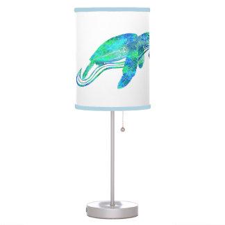 Gráfico de tortuga de mar lámpara de mesilla de noche