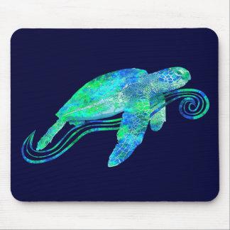 Gráfico de tortuga de mar mousepads