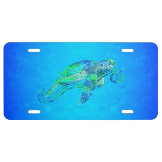 Gráfico de tortuga de mar placa de matrícula