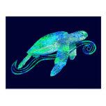 Gráfico de tortuga de mar postal