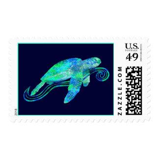 Gráfico de tortuga de mar sellos postales