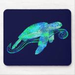Gráfico de tortuga de mar tapete de raton