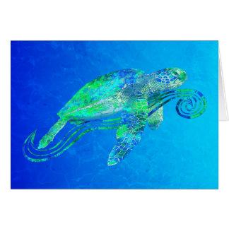 Gráfico de tortuga de mar tarjeta de felicitación