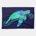 Gráfico de tortuga de mar toalla de mano