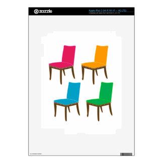Gráfico de una silla de cena iPad 3 pegatina skin