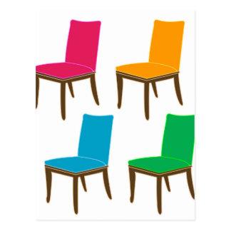 Gráfico de una silla de cena postales