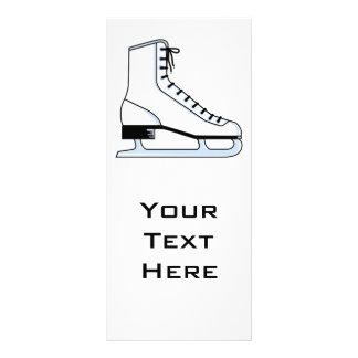 gráfico de vector blanco del patín de hielo tarjetas publicitarias personalizadas