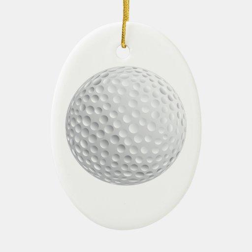 gráfico de vector de la pelota de golf adorno navideño ovalado de cerámica