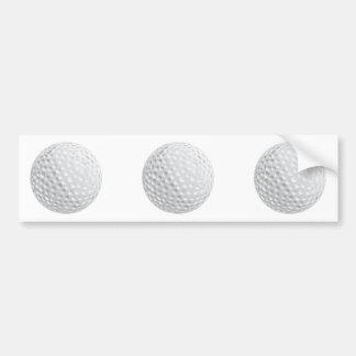 gráfico de vector de la pelota de golf etiqueta de parachoque