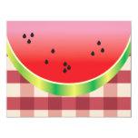 gráfico de vector de la sandía de la comida invitación 10,8 x 13,9 cm
