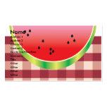 gráfico de vector de la sandía de la comida tarjetas de visita