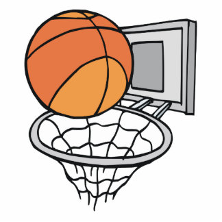 gráfico de vector del baloncesto y de la red escultura fotográfica