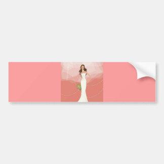 Gráfico de vector del boda 18 pegatina de parachoque