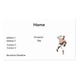 gráfico de vector del jugador de béisbol que lanza tarjetas de visita