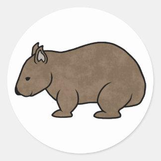 Gráfico de Wombat Pegatina Redonda