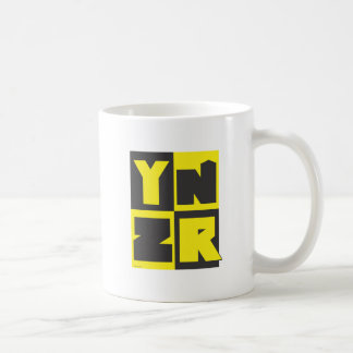 Gráfico de YNZR, en productos promocionales Tazas De Café