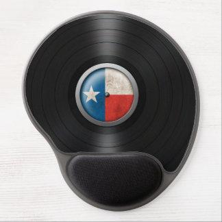 Gráfico del álbum de disco de vinilo de la bandera alfombrilla con gel