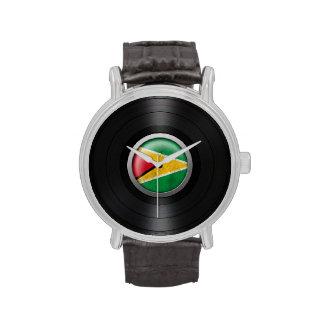 Gráfico del álbum de disco de vinilo de la bandera relojes de pulsera