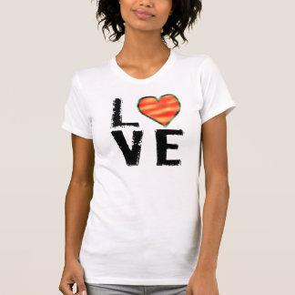 Gráfico del AMOR con el corazón Camisetas