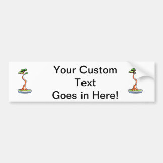 gráfico del árbol de los bonsais del literati pegatina para auto