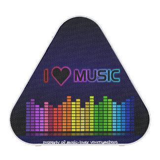 Gráfico del arco iris de la música del corazón de altavoz bluetooth