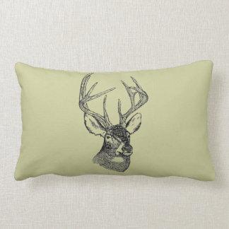 Gráfico del arte de los ciervos del vintage almohadas