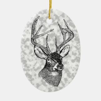 Gráfico del arte de los ciervos del vintage adorno de navidad
