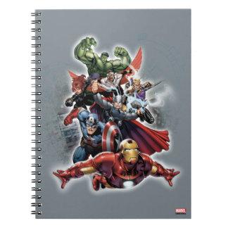 Gráfico del ataque de los vengadores cuadernos