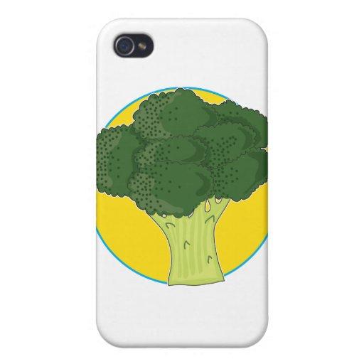 Gráfico del bróculi iPhone 4 carcasa