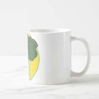 Gráfico del bróculi tazas de café