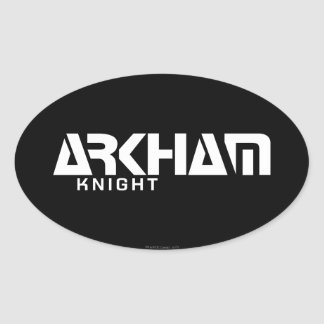 Gráfico del caballero de Arkham Pegatina Ovalada