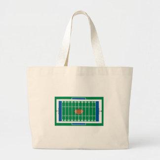 gráfico del campo de fútbol del hierro de la rejil bolsa tela grande